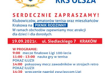 Logo KKS Olsza i plan wydarzeń